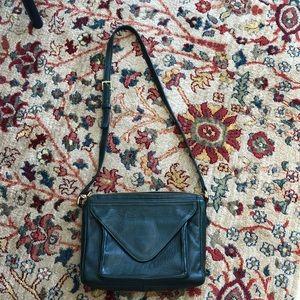 Hunter green Leather handbag by Lauren Merkin